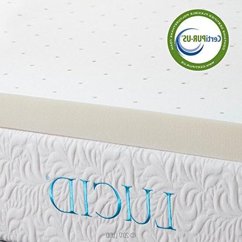 LUCID Ventilated Memory Foam Mattress Topper 3-Year Warranty - Queen