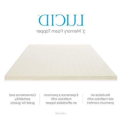 LUCID Inch Ventilated Memory Foam 3-Year Warranty