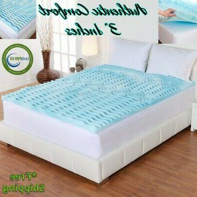 3 orthopedic memory foam gel mattress matress