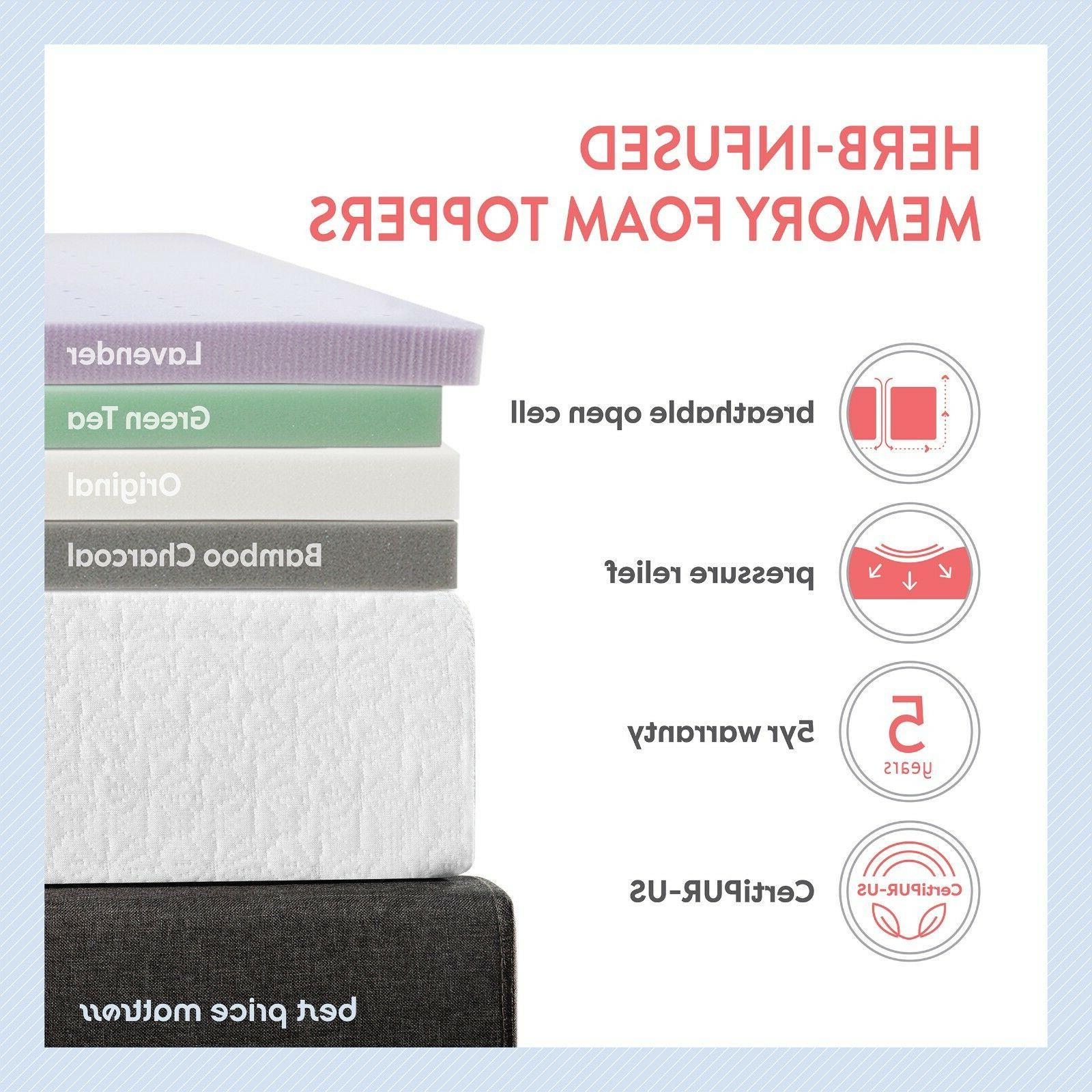 "3"" Premium Ventilated Flow Memory Mattress Gift"