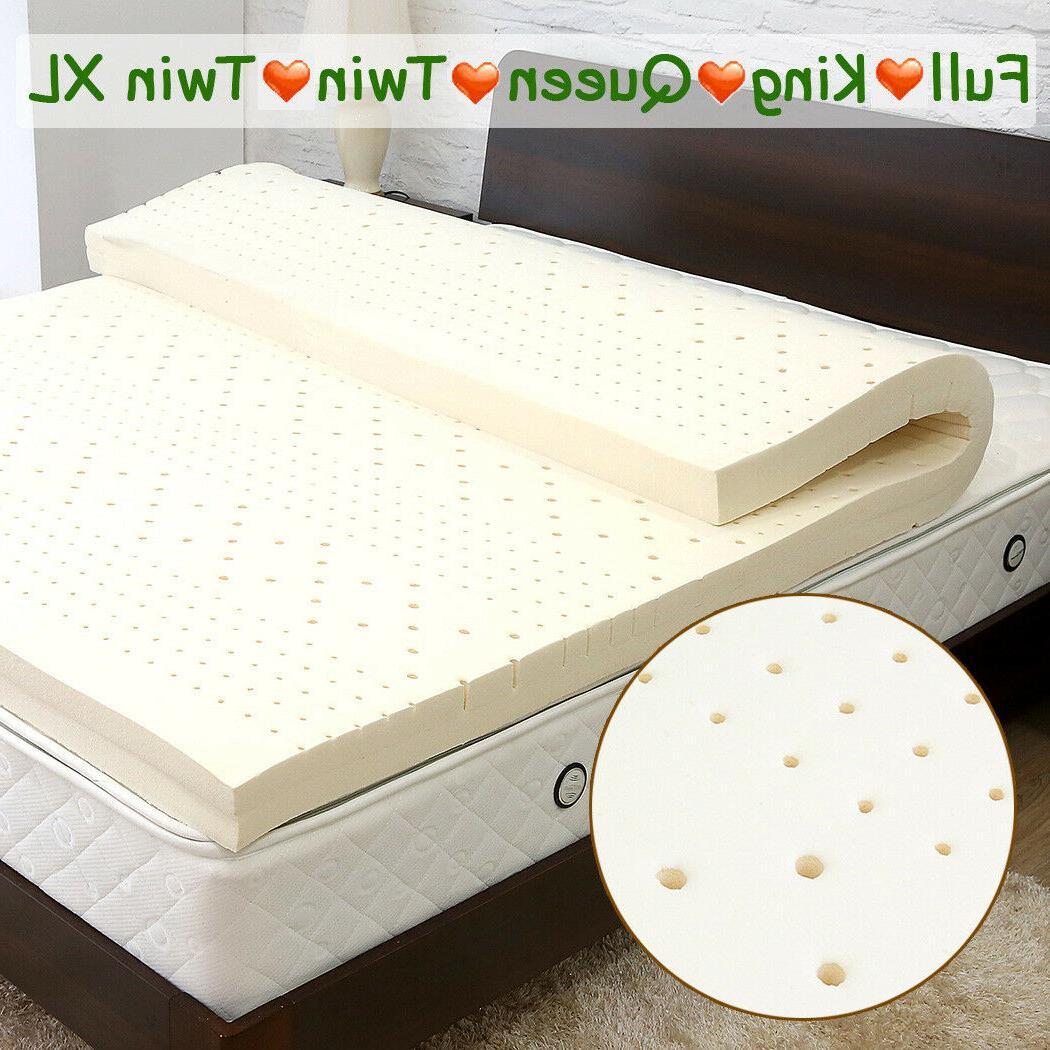 3´´ Natural Latex Mattress Topper Dunlop 100% Pure Non-Tox