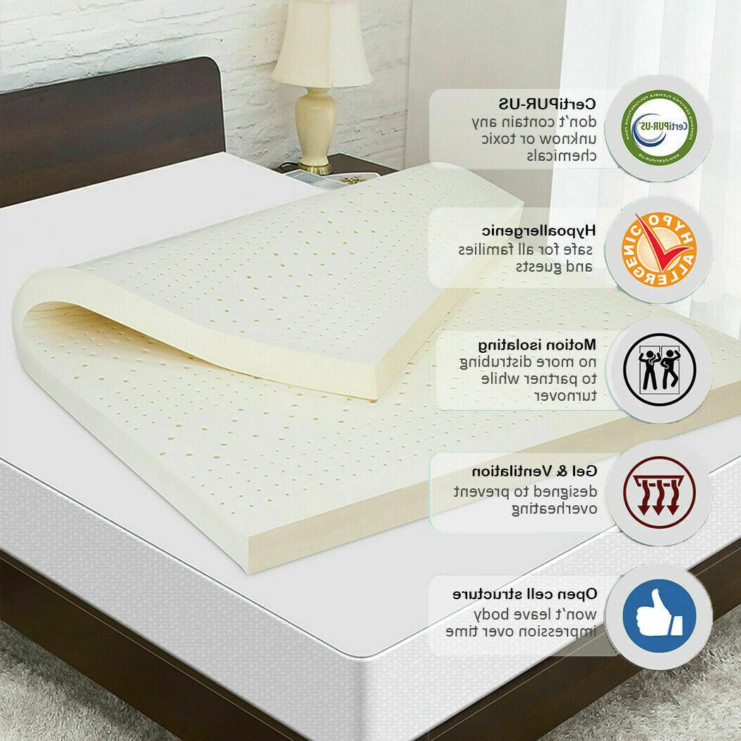 """3"""" 100% Mattress Great Non-Toxic Chemical Green~"""