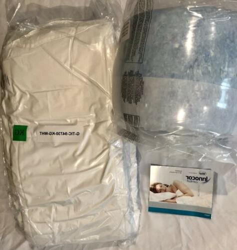 "Sleep Innovations 4"" Dual Layer Mattress Topper & King"