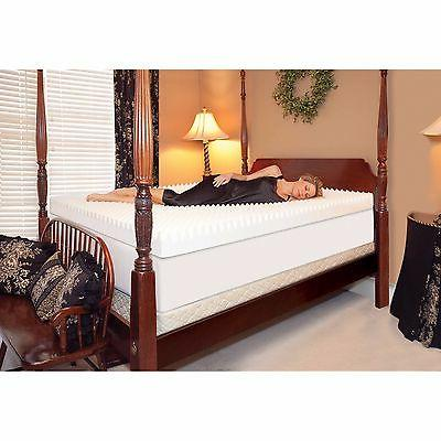 4 INCH 3-LB MEMORY FOAM TEXTURED BEDDING TOPPER SIZE