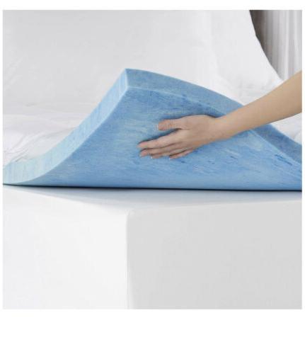 Sleep Innovations 4-inch Dual Layer Gel Foam
