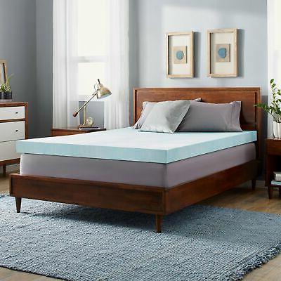 4 inch gel memory foam mattress topper