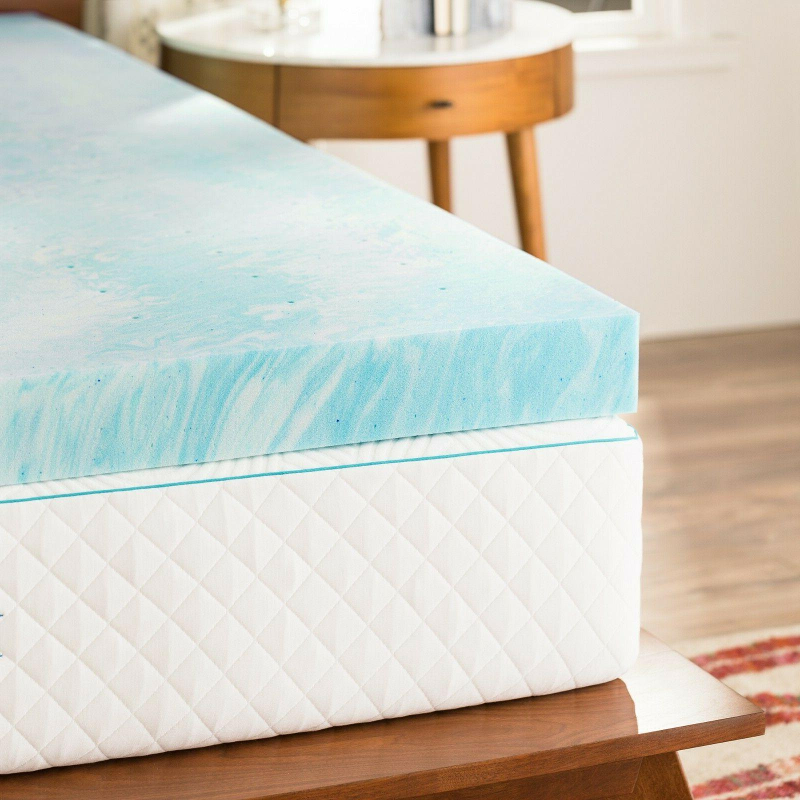 4 Inch Gel Swirl Memory Foam Mattress King and