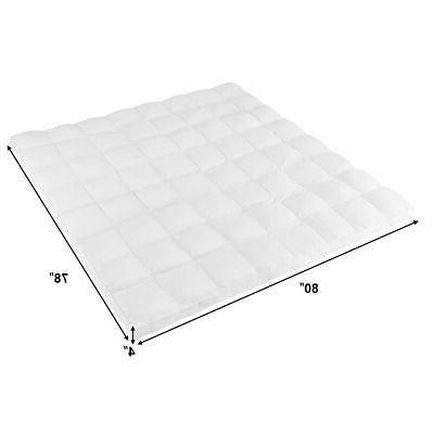 4'' Size Topper Microfiber Alternative Pad