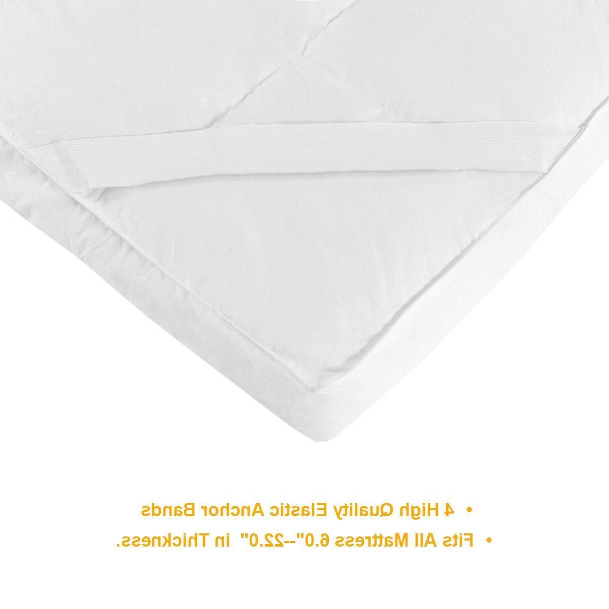 "4"" Topper Hypoallergenic Microfiber Alternative Pad"