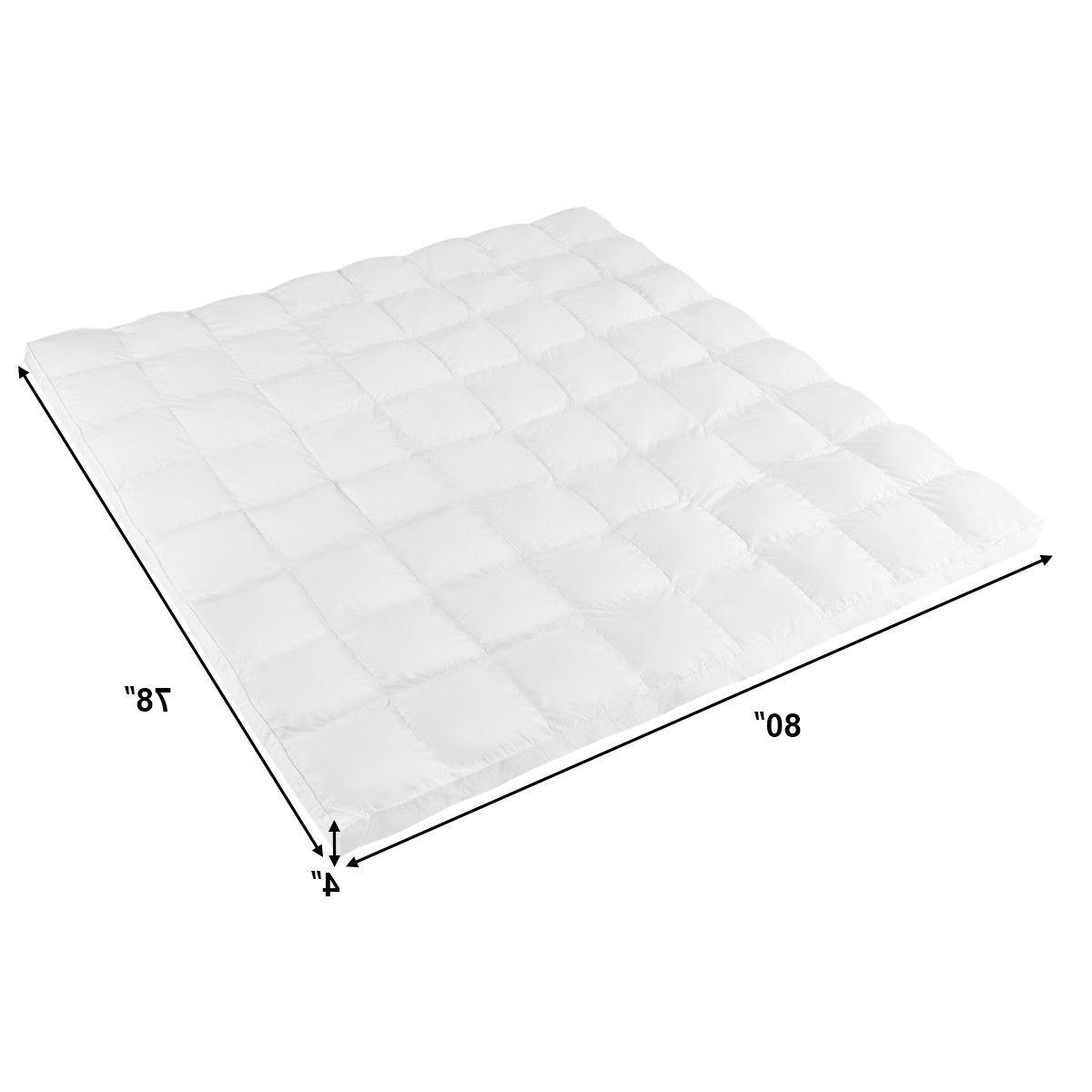 "4"" Mattress Topper Microfiber Alternative"