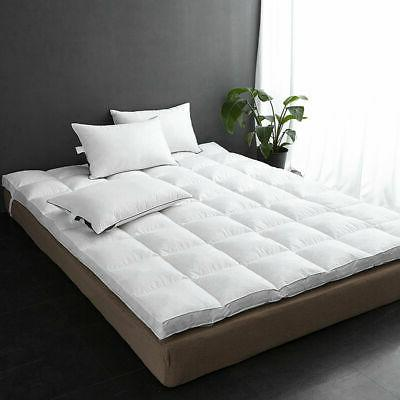 4 queen size mattress topper hypoallergenic microfiber