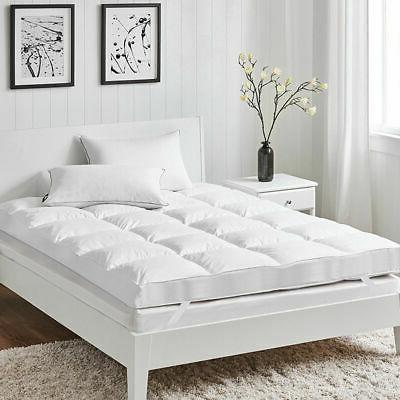 4 twin size mattress topper hypoallergenic microfiber