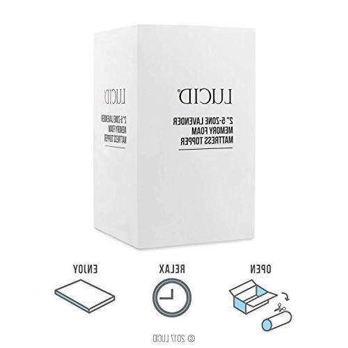 LUCID 5-Zone Memory Foam - Twin