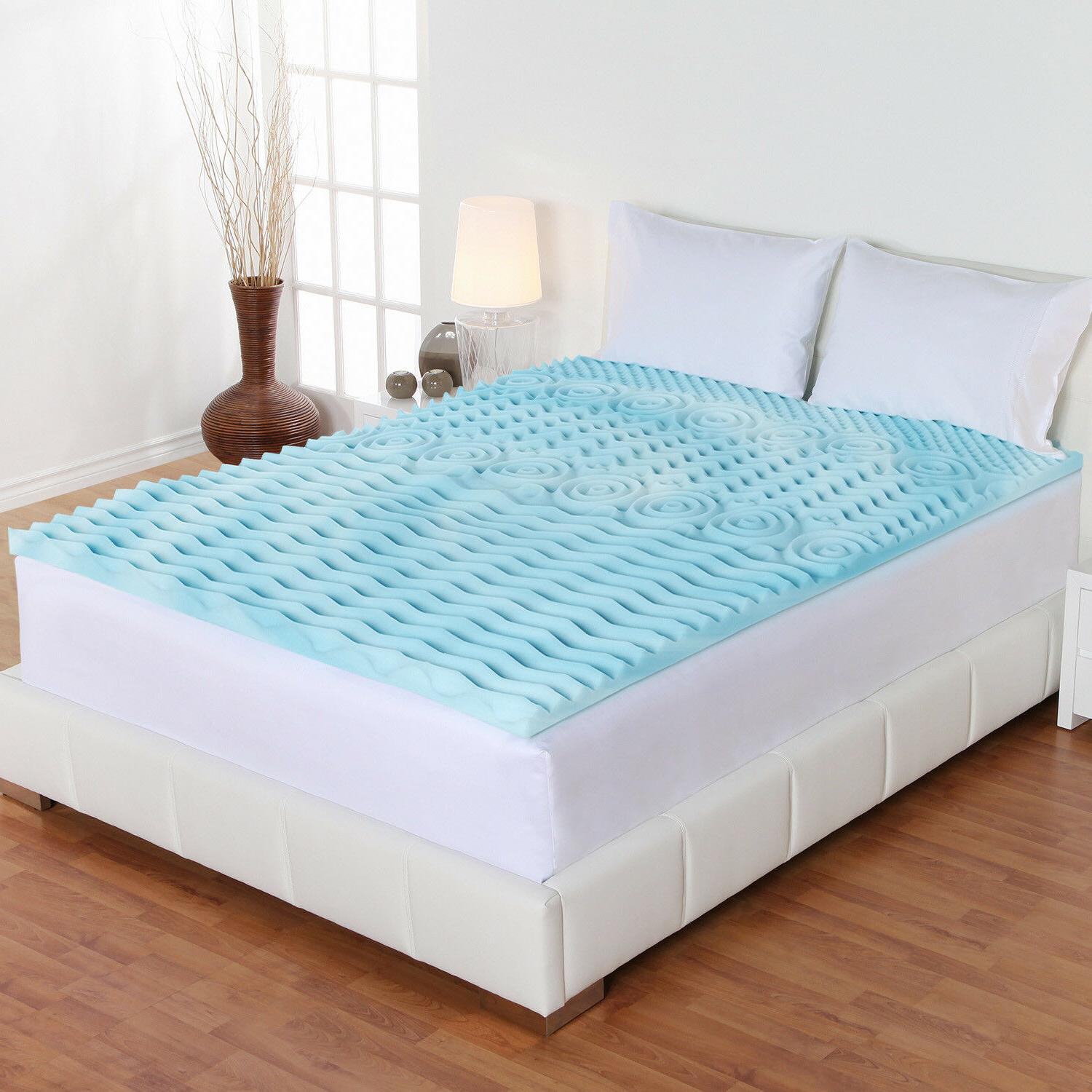 "Orthopedic Mattress Topper Foam 5 Zone 2"" Pad Comfort Sleep"