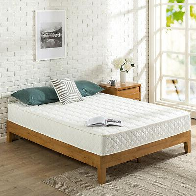 8 inch spring mattress with quilted cover