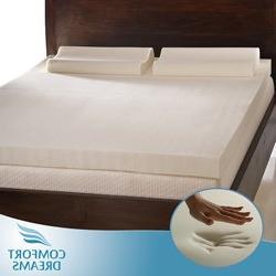 Comfort Dreams 3-inch Memory Foam Mattress Topper w/Contour