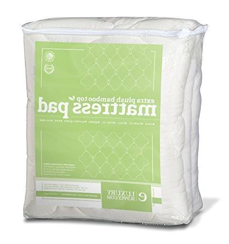 ExceptionalSheets Mattress Pad Skirt - Extra Cooling Hypoallergenic - USA, Full