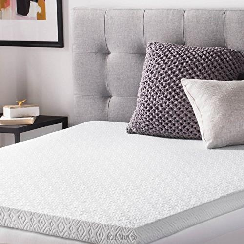LUCID 2.5 Inch Infused Ventilated Mattress Topper Tencel Blend Cover U.S. Size