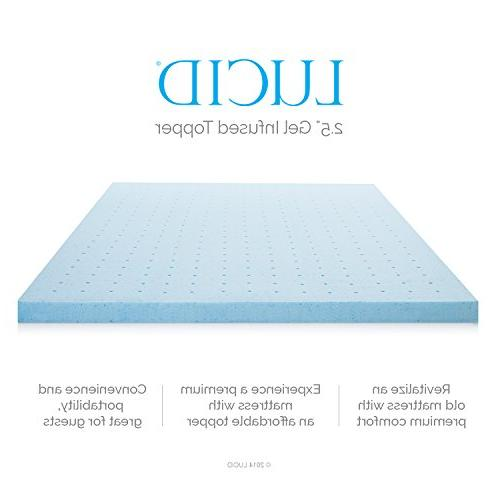 2.5 Ventilated Gel Memory Foam by LUCID