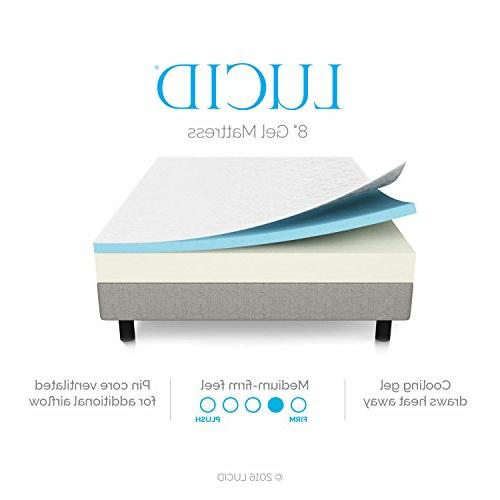 LUCID Infused Foam Mattress - Firm - Certified - 10 -