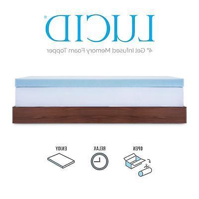 Lucid Size Memory Foam Gel Ultra Plush