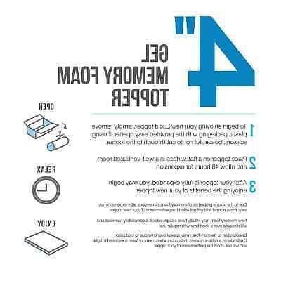 Lucid Size Memory Foam Mattress 4 Inch Gel Topper Orthopedic Plush