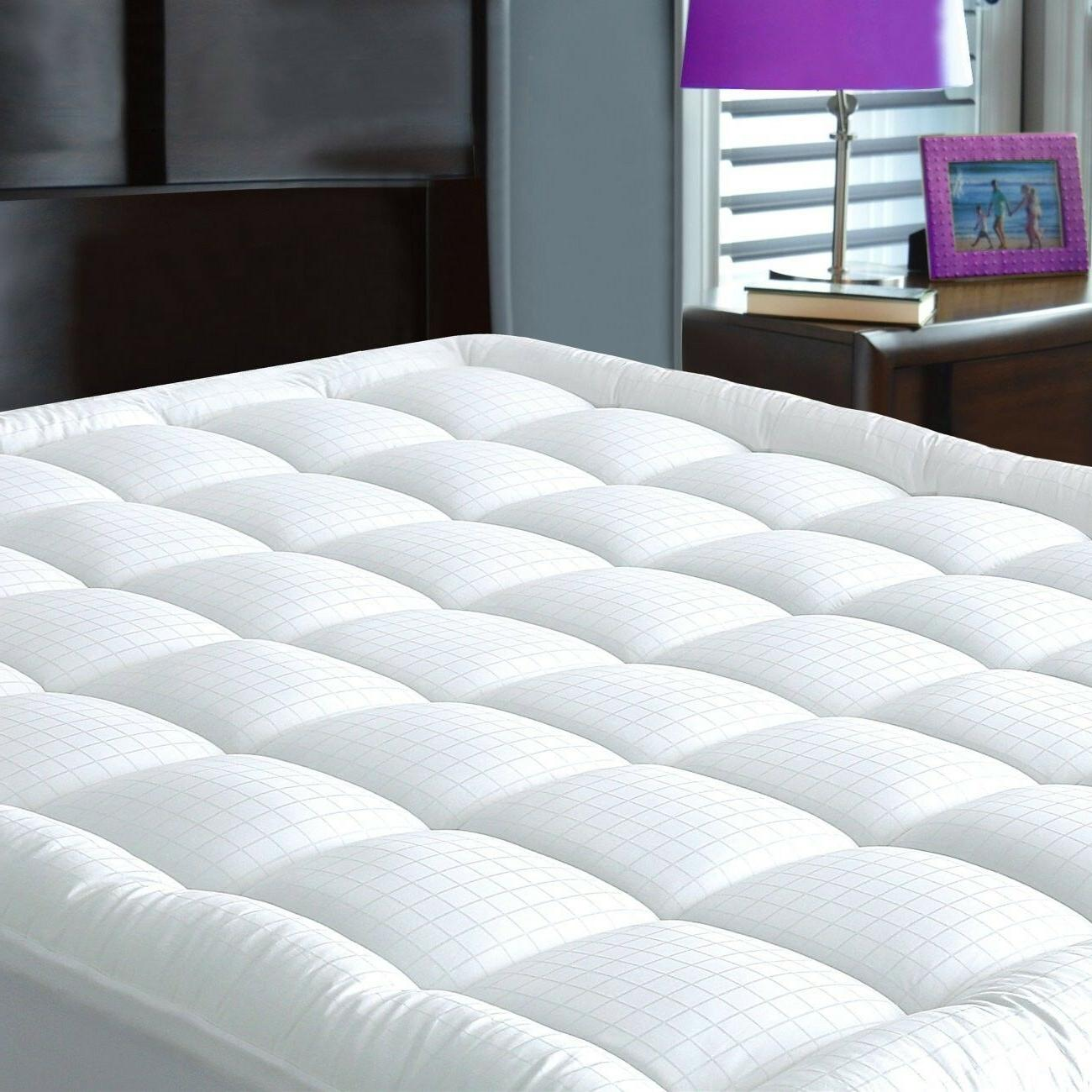 Mattress Pad Cover King Size - Cotton Down Alternative Fille