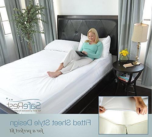 SafeRest Queen Hypoallergenic Waterproof Mattress Protector - Vinyl Free