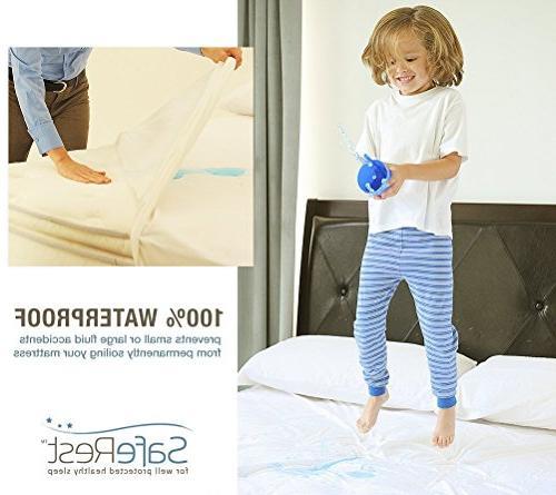 SafeRest Hypoallergenic Waterproof Mattress - Vinyl Free