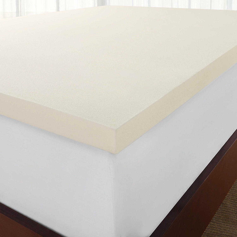Sleep Innovations Foam Mattress Topper, Made in USA~Queen