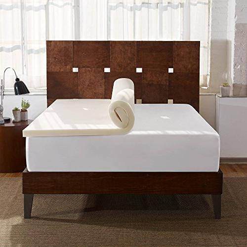 Sleep Innovations 2-inch Foam Topper, in the USA with a - Queen