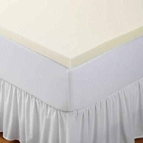 Sleep Innovations 2-inch Memory Foam Topper, Made with a XL White