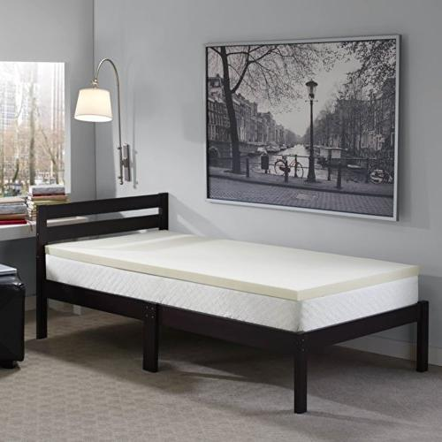 Sleep F-TOP-10985-TX-WHT Memory Foam Made USA with a 1-Year Warranty-Twin XL Size,