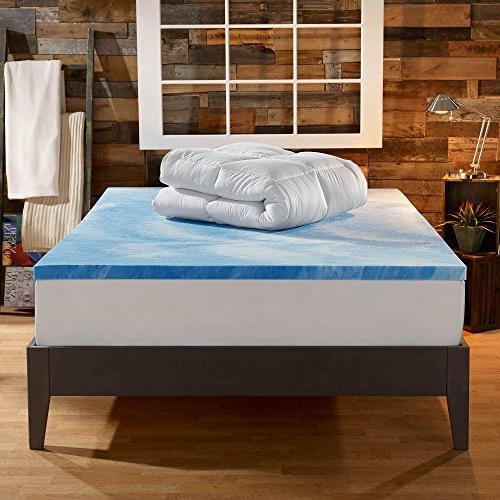 Sleep Gel Foam 4-inch Dual the with 10-Year Warranty Size