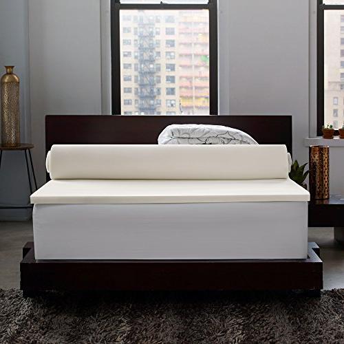 Sleep Instant Pillow Top Foam Fiber Mattress Topper, in a Warranty California King
