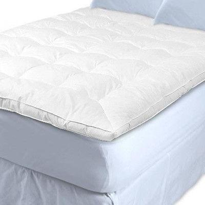 White Goose Topper Feather and Down Baffle Box Featherbed Ma