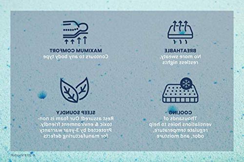 ViscoSoft Cooling Gel Foam Topper - Queen Mattress with