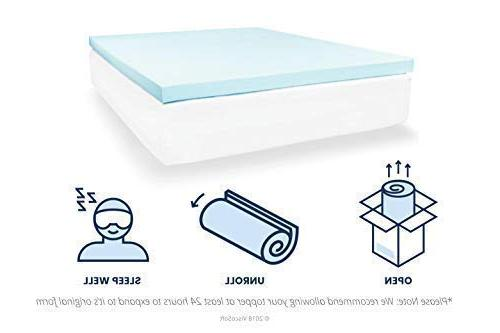 ViscoSoft 3 Gel Memory Topper Pad - Bed with