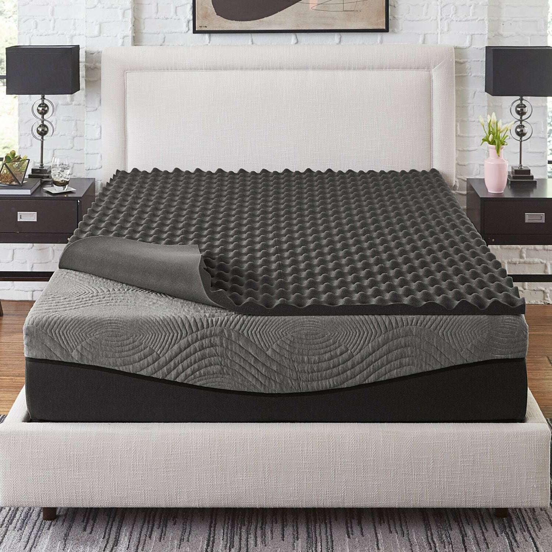 Slumber Solutions Active 3-inch 5-Zone Charcoal Memory Foam