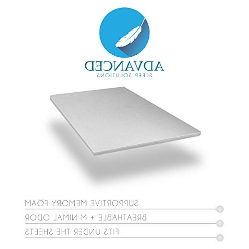 "Advanced Sleep Foam Mattress 2"" Inch CertiPUR-US Approved USA Made"