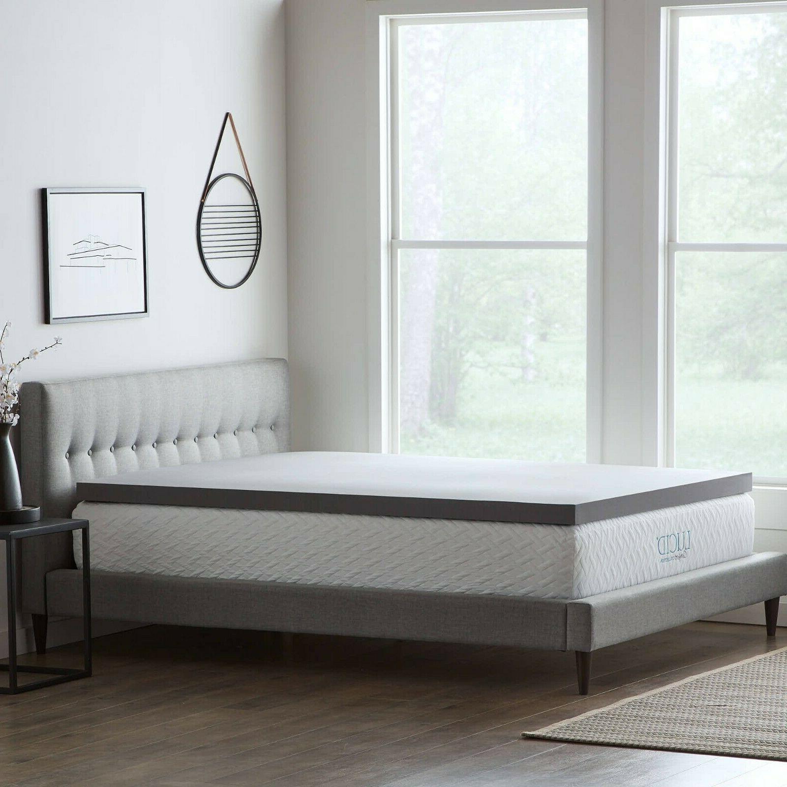 bamboo charcoal memory foam mattress topper