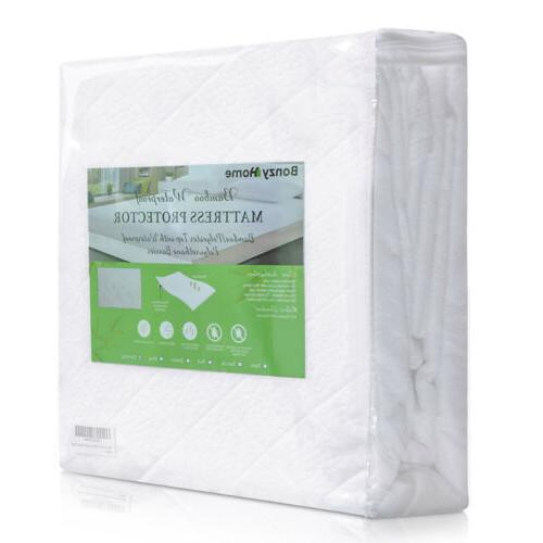 Bamboo Mattress Cover Bed Waterproof Full Queen