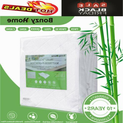 bamboo mattress protector bed cover pad waterproof