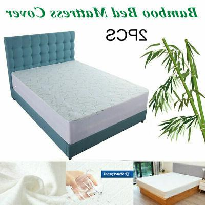 bamboo mattress protector topper bed cover waterproof