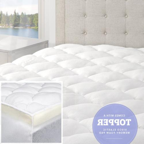 bamboo mattress topper with fitted skirt double