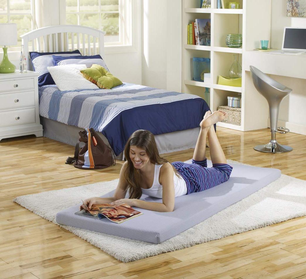 "Simmons BeautySleep Siesta Memory Foam Bed/Floor Mat, 3"""