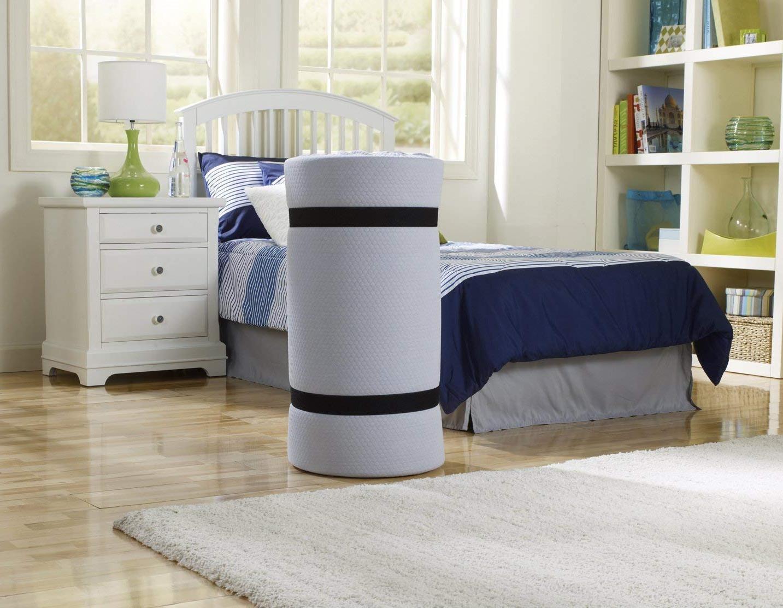 """Simmons Siesta Foam Roll-Up Guest Bed/Floor Mat, 3"""""""