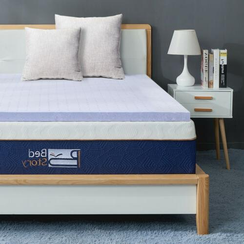 BedStory Bed topper mattress 3 Inch QUEEN-size Lavender Memo