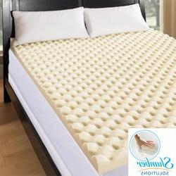 Slumber Solutions Big Bump 4-inch Memory Foam Mattress Toppe
