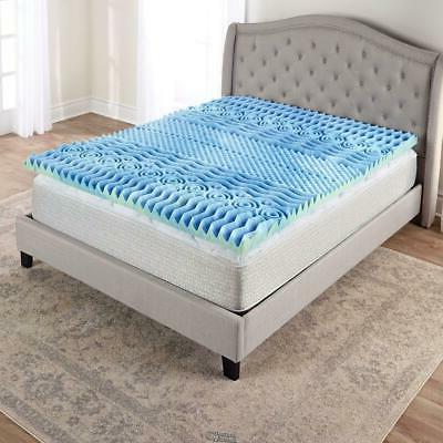 BODY CONTOURING FULL MATTRESS Bed TOPPER 7 ZONE MEMORY FOAM